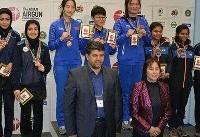 ششمی، هفتمی و دهمی دختران جوان در تفنگ بادی/ تیم ایران دوم شد