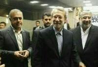 بازدید علی لاریجانی از ستاد انتخابات کشور