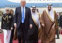 استقبال ملک سلمان از ترامپ و همسرش در فرودگاه (عکس)