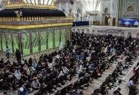 مراسم احیاء در حرم امام خمینی(ره) با آرامش در حال برگزاری است