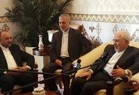 ظریف وارد الجزایر شد/ آغاز گفتوگوی وزرای خارجه دو کشور