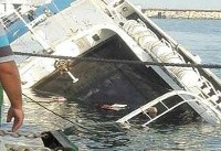 کشتی مسافربری در جزیره کیش غرق شد