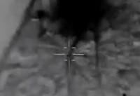 فیلم دیگری از لحظه اصابت موشک های سپاه به مقر داعش