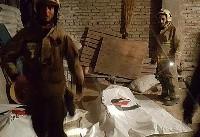 مرگ دو کارگر میانسال در حادثه آوار در چهاردانگه + تصاویر