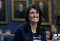 Haley says warning to Syria also aimed at Russia and Iran