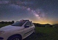 عکس کهکشان راه شیری در آسمان دیلمان گیلان