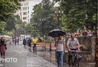 تشدید بارش در سواحل دریای خزر/ احتمال بارش رگباری در تهران