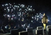اجرای تئاتر لامبورگینی در زیر نور موبایل