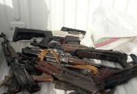 دستگیری یکی از اشرار مسلح شرق کشور به همراه مقادیری سلاح جنگی ونارنجک