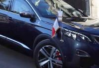 پژویی که مکرون در جشن روز ملی فرانسه سوار شد