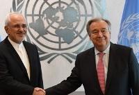 (تصاویر) دیدار ظریف با دبیرکل سازمان ملل