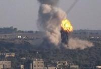 صهیونیست ها به یک پایگاه حماس در غزه  حمله کردند