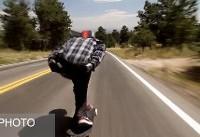 ویدئو / تجربۀ نهایت سرعت با اسکیتبرد