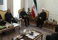 دیدار رئیسجمهور ایران با فرماندهان سپاه بعد از ماهها تنش