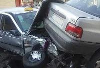 تصادف پنج خودرو در تهرانپارس +عکس