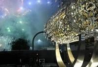 رونمایی از مجسمه منشور کوروش در آمریکا