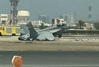حادثه برای هواپیمای نظامی آمریکا در فرودگاه بحرین