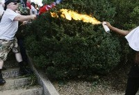 Charlottesville: Man pictured using homemade flame thrower on white supremacists speaks out