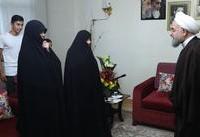 عکس/ دیدار روحانی با خانواده شهیدان « اصغری ترکانی »
