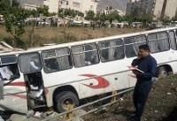 واژگونی اتوبوس ولوو در خراسان رضوی ٢٠ مجروح به جا گذاشت/ راننده خسته و ...