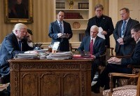 Every top Trump adviser in this photo has now resigned or been fired