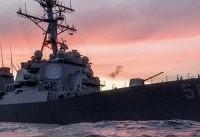 برخورد ناو آمریکایی با کشتی تجاری در حوالی سنگاپور