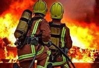 آتشسوزی در ساختمان اداری-تجاری؛ سوختگی ۴ آتش نشان با مواد شیمیایی