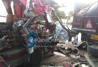 یک کشته و ۱۵زخمی در تصادف اتوبوس در خراسان +عکس