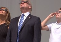 Melania Trump dons absolutely fitting ensemble to watch the solar eclipse