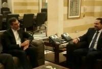 دیدار جابری انصاری با نخست وزیر لبنان
