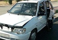 چهار زخمی حاصل تصادف دو پراید در بزرگراه یاسینی +عکس