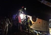 ۱۹ کشته و زخمی در تصادف اتوبوس و کامیون/ ۴ مجروح حادثه عراقی هستند
