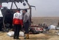 تصادف خونبار اتوبوس و کامیون در جاده بوئین زهرا