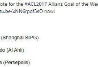 گل منشا کاندیدای گل برتر لیگ قهرمانان آسیا