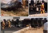 ۵ کشته در برخورد تانکر حمل سوخت و پژو