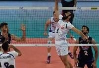 تیم ملی والیبال ایران ست اول را از ایتالیا برد