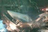 شب مرگبار جاده سلفچگان/۵ کشته در آتش پژو ۴۰۵
