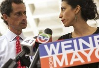 Anthony Weiner And Huma Abedin Appear In Divorce Court