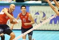 شکست آمریکا از والیبالیست های ایران