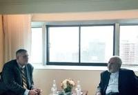 دیدار ظریف و نماینده سازمان ملل در نیوریورک