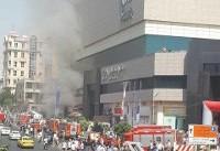 به علت آتش سوزی پردیس کورش تا اطلاع ثانوی تعطیل شد+ عکس