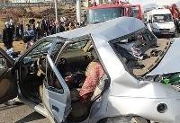 کشته و زخمی شدن ۹ نفر در تصادف زنجیرهای اتوبان سلفچگان به ساوه