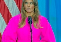 Melania Trump stuns in pink Delpozo dress at United Nations luncheon