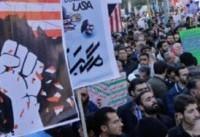 تظاهرات نمازگزاران جمعه در اعتراض به اهانت ترامپ+بیانیه