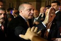 ضرب و شتم معترضان در جریان سخنرانی اردوغان در نیویورک