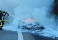 نابود شدن یک فراری نادر در آلمان به دلیل نقص فنی موتور +عکس