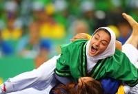 زهرا یزدانی اولین طلای کشتی آلیش ایران در بازیهای داخل سالن آسیا