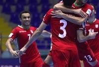 پیروزی پرگل تیم ملی فوتسال مقابل تایلند در نیمه نخست