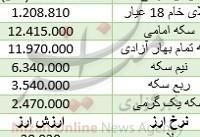 افزایش اندک قیمت سکه امامی/ دلار ثابت ماند + جدول قیمت