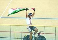 بازیهای داخل سالن آسیا؛ دانشور مدال برنز دوچرخهسواری کایرین را کسب کرد